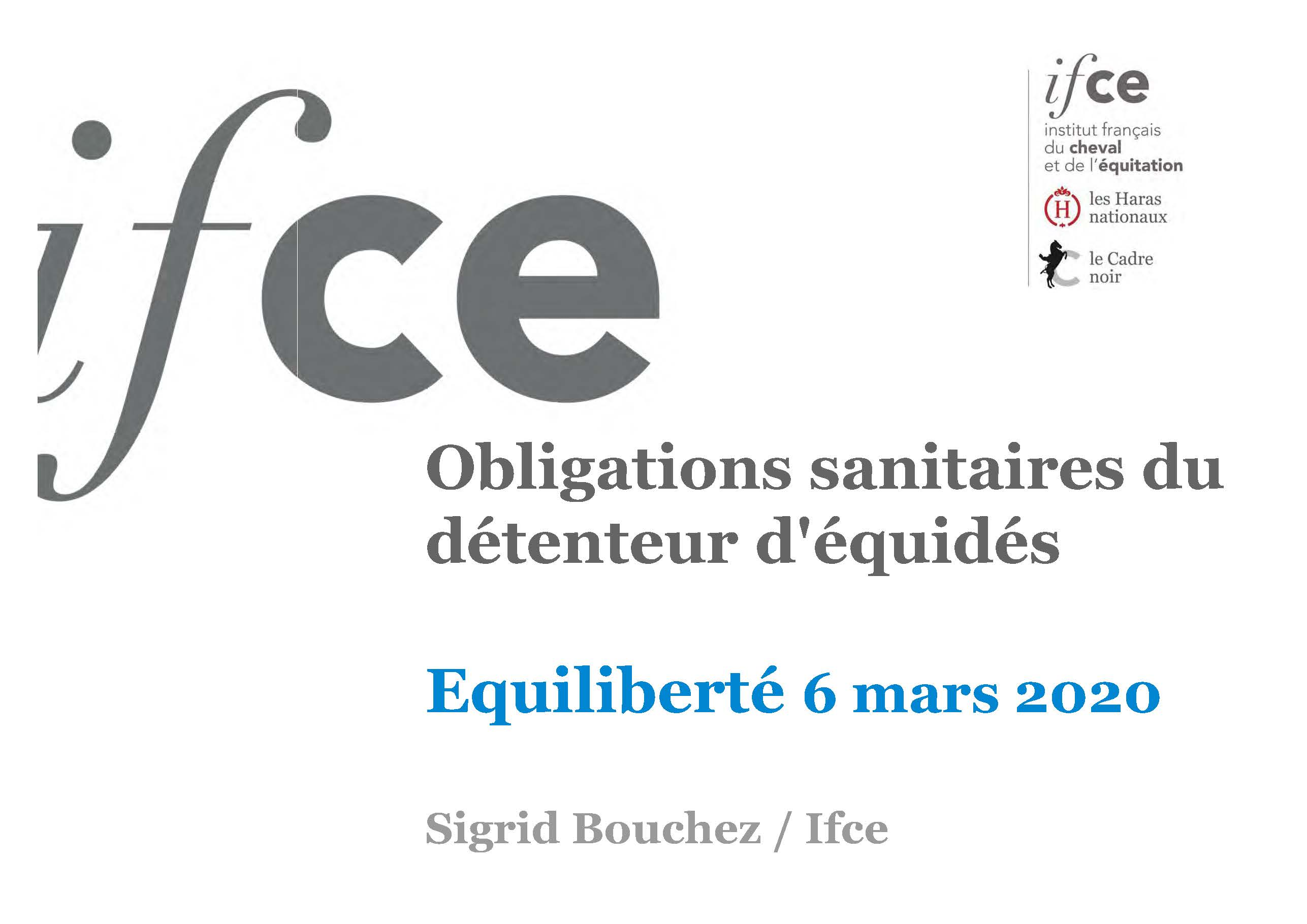 demarches sanitaires equide Equiliberte